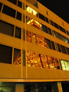 Tokyo Tower reflected