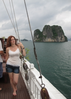 Jen in Ha Long Bay